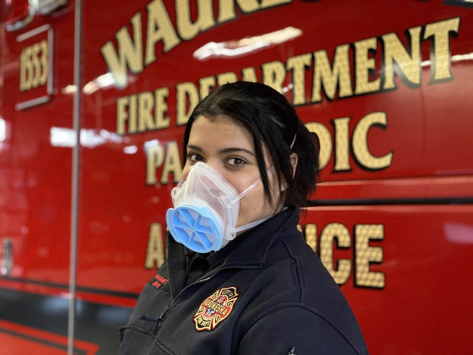 The MaskForce mask, developed by a consortium of Milwaukee-area businesses, including Briggs & Stratton Corporation, will be used by healthcare professionals to help prevent the spread of infection or illness during the COVID-19 pandemic.
