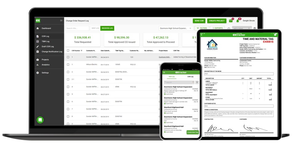 Top construction software platform Extracker enhances efficiency and eliminates risky in-person contact so contractors can save time and protect revenue.