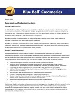 Food Safety and Production Fact Sheet