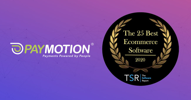 """Ranked ahead of big industry names, PayMotion awarded 5th place in The Software Report's """"Best Ecommerce Software"""" of 2020."""