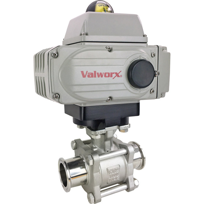 """1"""" Electric Actuated Sanitary Ball Valve, Tri-Clamp"""