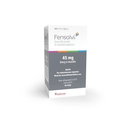 FENSOLVI® (leuprolide acetate) for Injectable Suspension for Pediatric Patients with Central Precocious Puberty 45mg every 6 months; for subcutaneous injection