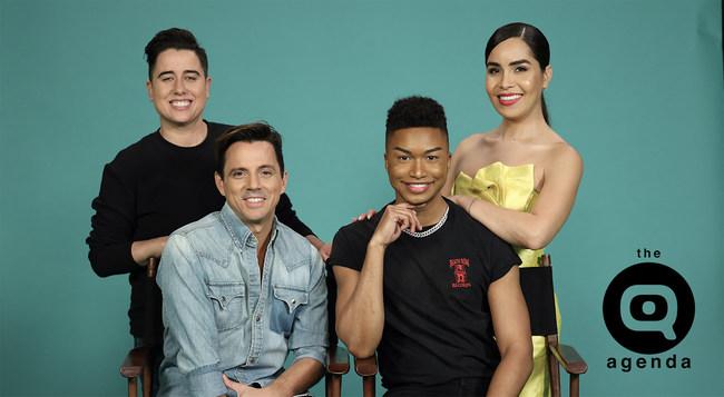 Lianna, Enrique, Victor and Juliana host 'The Q Agenda' on LATV.