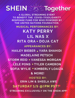 Global Online Retailer SHEIN Announces SHEIN TOGETHER Featuring Headlining Performances By Katy Perry And Lil Nas X