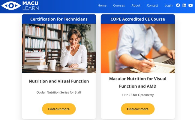 """""""At MacuHealth, our quest has always been to embrace the science and provide the best solutions to both ECPs, Technicians and Patients. MacuLearn is the perfect platform to assure this quest is completed and proper focus is given to improving visual performance and preserving vision."""""""