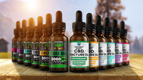 New CBD Oils from Hemp Bombs and Nature's Script ranging from 300 mg-5000 mg tinctures.