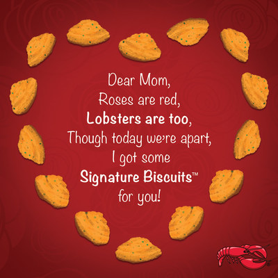 Red Lobster® is helping guests show Mom that she is loved by creating fun and quirky Mother's Day e-cards to send to her on the special day.