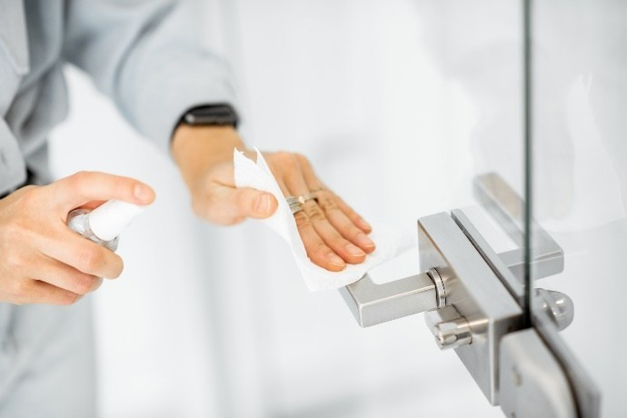 Evidence shows hand hygiene and surface disinfection reduce the spread of infection.