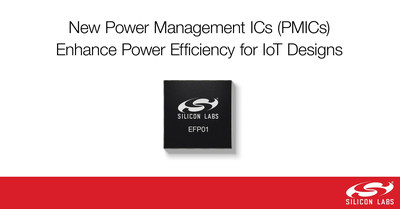 Silicon Labs' new EFP01 power management ICs (PMICs) enhance power efficiency for IoT product designs.
