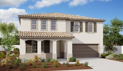 Richmond American's Tourmaline plan at Seasons at Mojave Drive in Victorville features an inviting covered porch.