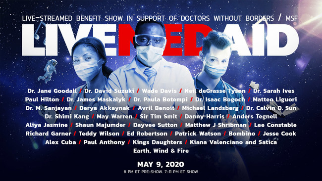 LIVEMEDAID, a live-streamed benefit show featuring renowned scientific leaders. It will shine a spotlight on the global crisis caused by COVID-19, and celebrate hope, resilience and the human spirit. (CNW Group/Underknown)
