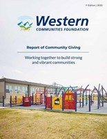 The Western Communities Foundation 2019 Report on Giving. (CNW Group/Western Financial Group)