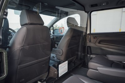 These Honda vehicles have been specially outfitted with a plastic barrier installed behind the front seating area and modifications to the ventilation system to help protect the driver from potential infection during transportation.