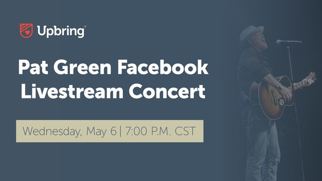 Upbring, a Texas-based nonprofit working to break the cycle of child abuse, will host a free virtual livestream concert featuring Texas country artist, Pat Green. The virtual event is free to the public and will take place on Upbring's Facebook page on Wednesday, May 6 at 7:00 p.m. CST.