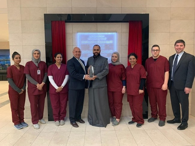 Pictured is Harris Healthcare's Vice President Dave Gersh and Deputy Director Anwar Alrashed of Al Amiri Hospital along with Adnan Al Rayes, VIRTUS Program Manager and Harris Healthcare and Virtus staff.