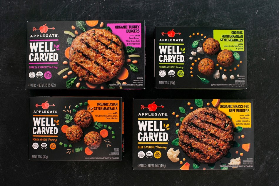 The APPLEGATE® WELL CARVED™ burgers and meatballs are designed to satisfy consumers who are mindful of their meat intake and its nutritional, ethical and environmental impact.