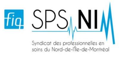 Logo : FIQ - Syndicat des professionnelles en soins du Nord-de-l'Île-de-Montréal (Groupe CNW/Syndicat des professionnelles en soins du Nord-de-l'Île-de-Montréal (SPS-NIM))