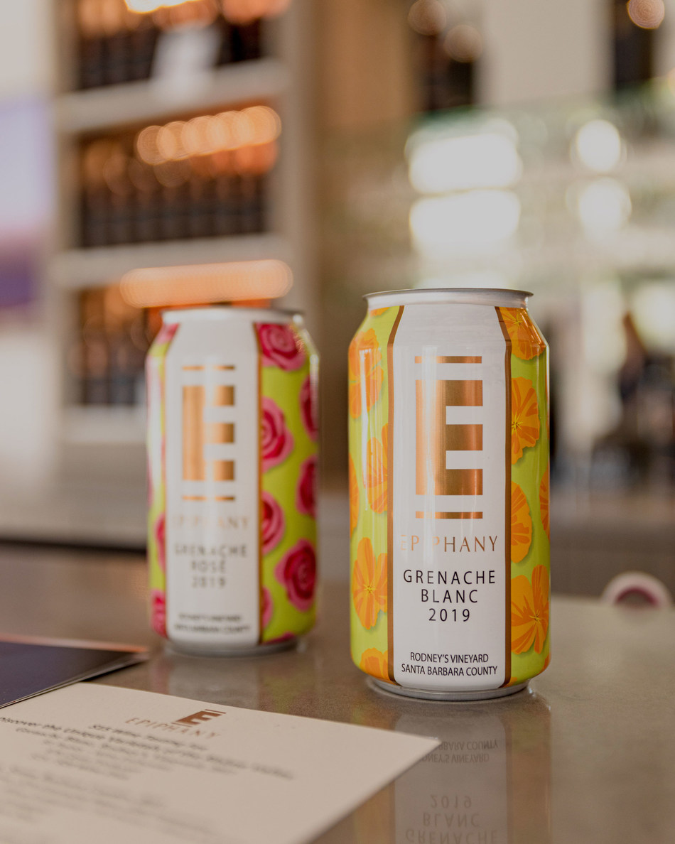 Epiphany, a Rhone-focused winemaking label in Santa Barbara County, is pleased to share two of its popular wines -- Grenache Rosé and Grenache Blanc -- in 375 mL can format just in time for the summer months.
