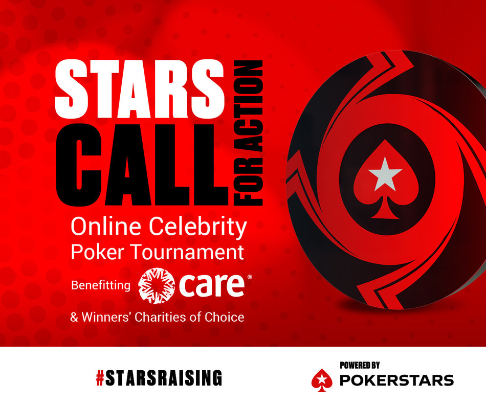 Dozens of A-list celebrities will come together for Stars CALL for Action - Powered by PokerStars (PRNewsfoto/PokerStars)
