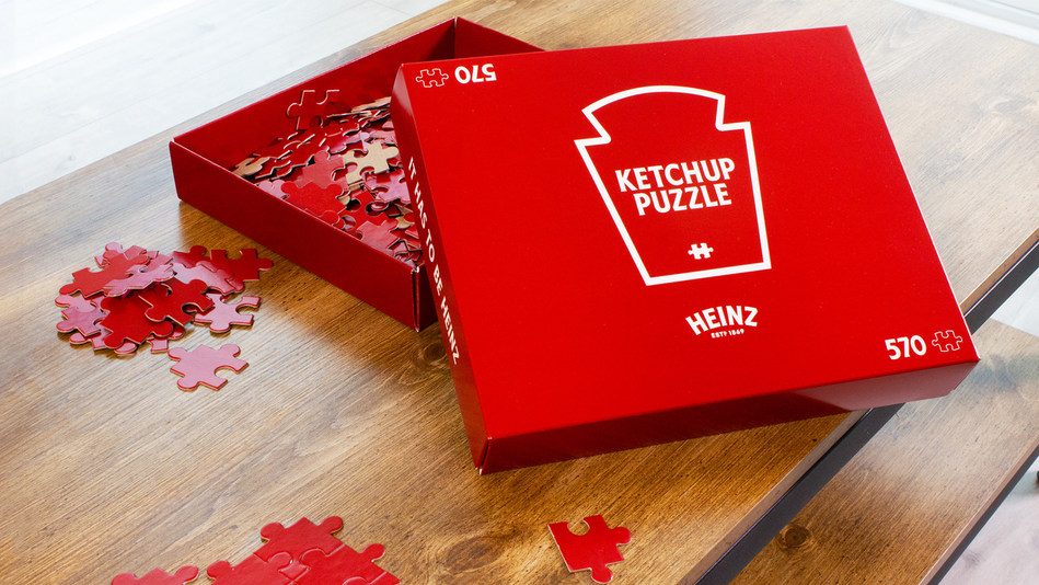 To help ketchup lovers in self-isolation, Heinz is giving away 57 Ketchup Puzzles in 17 countries around the world and 57 Canadians will have the chance to win one. (CNW Group/Kraft Heinz Canada)