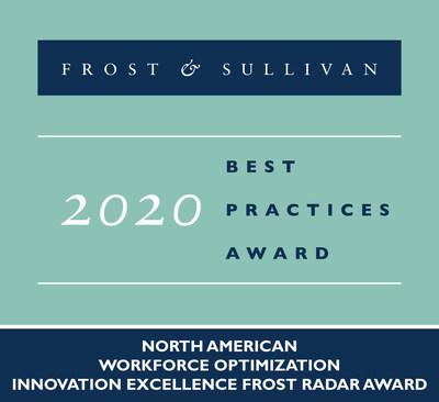 Genesys - 2020 North American Workforce Optimization Innovation Excellence Frost Radar Award