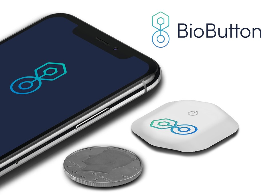 BioIntelliSense's new BioButton™ for 90-days of continuous wireless temperature and vital signs monitoring on a coin-sized disposable medical device