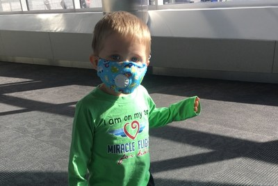 Even amid the coronavirus pandemic, 3-year-old Asher from Radford, Virginia, must continue his medical journey to find a cure for several life-threatening food allergies. The national charity Miracle Flights provides Asher and his parents with free plane tickets to California, where Asher has been undergoing treatment for more than a year. His next flight is Sunday, May 10, 2020-which also marks the beginning of Food Allergy Awareness Week.