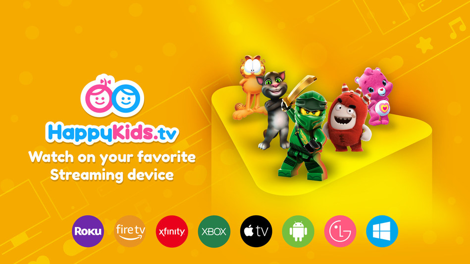 HappyKids.tv is a FREE and SAFE app designed to educate and entertain millions of kids across multiple platforms every day.