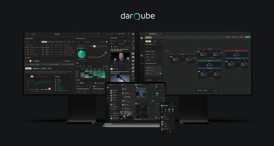 Darqube product suite: Terminal, Tradelab and Messenger (PRNewsfoto/Darqube)