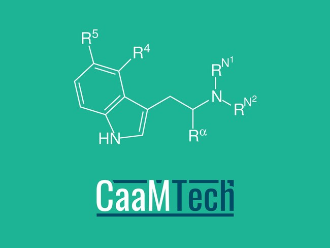 The Designer Drug Research Unit at the National Institute on Drug Abuse will conduct research on CaaMTech's library of tryptamine-based compounds