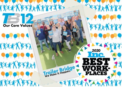 Trailer Bridge employees share their favorite TB12; the company's set of 12 core values that make it an exceptional place to work and winner of Inc. magazine's best Workplaces of 2020.