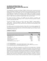 AGI MD&A 2020 Q1 (CNW Group/Ag Growth International Inc. (AGI))