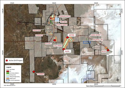 Figure 1: Plan view of active HGO mines and exploration projects (CNW Group/RNC Minerals)