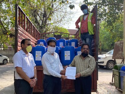 Indian Peroxide Limited donates hydrogen peroxide for Coronavirus disinfection and sanitation drive