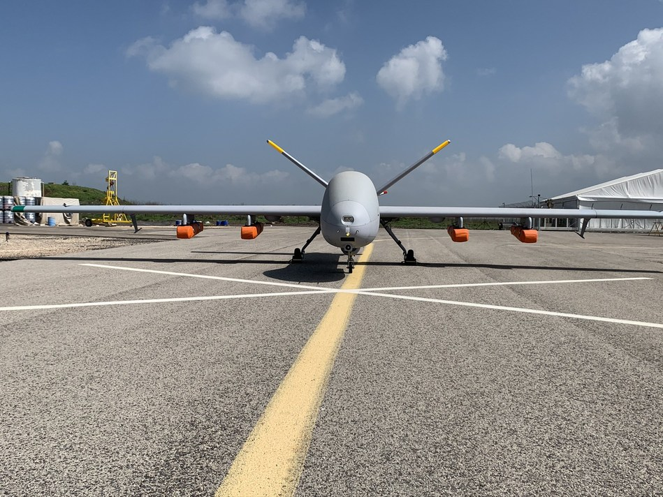 Hermes 900 Maritime Patrol Unmanned Aircraft System integrated with life-rafts