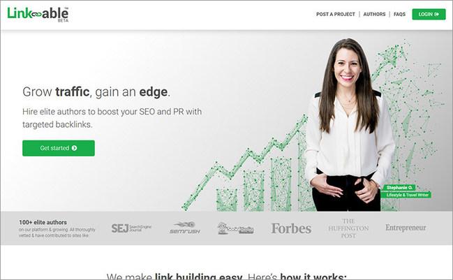 Link-able.com website screenshot