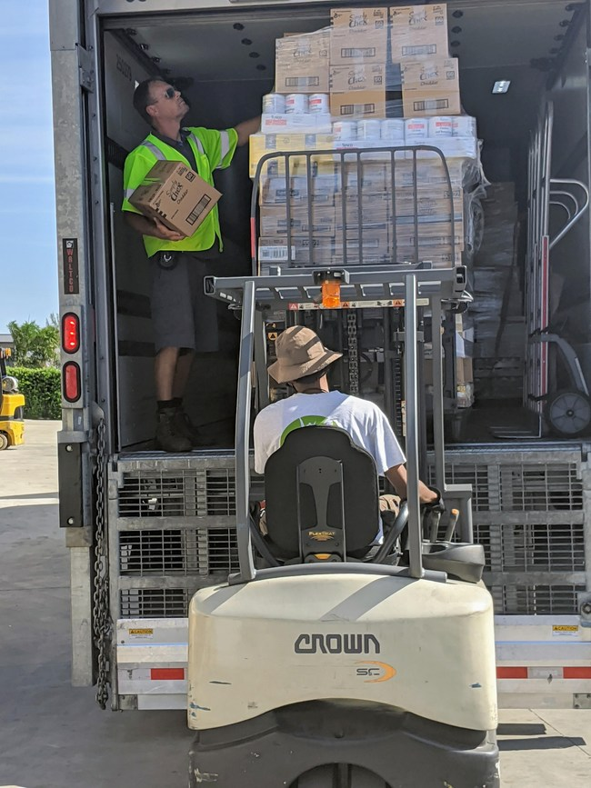 16,000 pounds of food donation