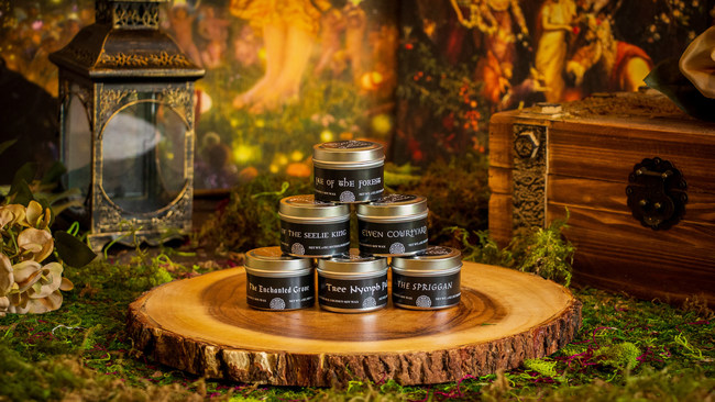 2 oz Spring sample pack from Mythologie Candles, available for pre-order now.