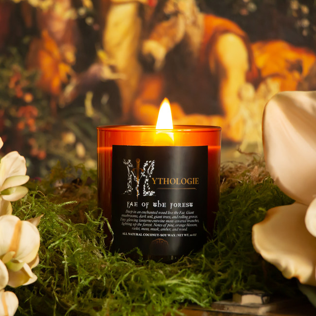 """""""Fae of the Forest"""" full size 10oz candle from Mythologie Candles"""