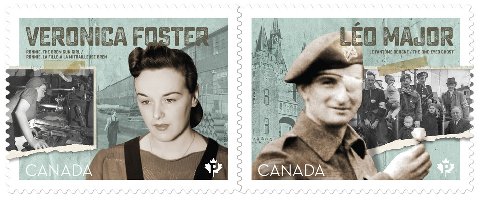 Victory in Europe 1945-2020 stamps (CNW Group/Canada Post)