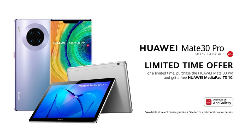 Huawei Canada announces availability of the much-anticipated Mate 30 Pro with new HUAWEI AppGallery (CNW Group/Huawei Consumer Business Group)