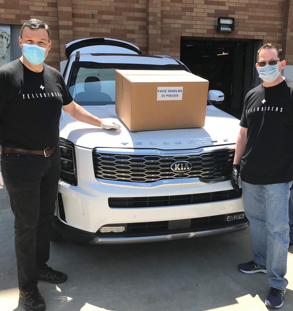 """Kia Motors' """"Telluriders"""" Continue Delivering Face Shields to Hospitals and Medical Facilities Nationwide"""