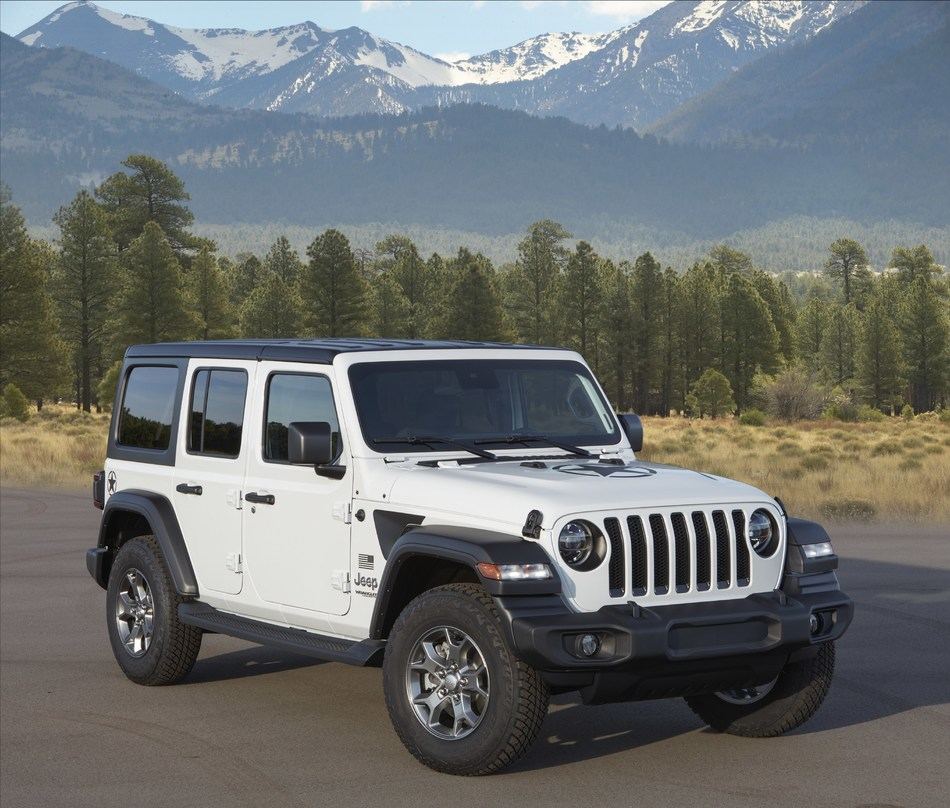 Jeep® Wrangler can account for emissions reduction equivalent to CO2 produced by three cars driven for one year