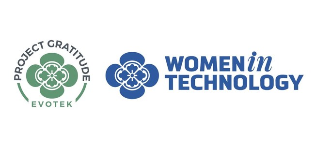 """EVOTEK announces the launch of two new charitable foundations: """"Project Gratitude,"""" and the """"Women in Technology Scholarship Fund."""""""