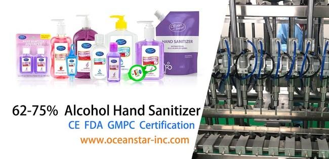 62-75% Alcohol, 8 million units/week, CE FDA GMPC-Approved www.oceanstar-inc.com