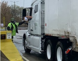 """Truckers on the Chicago Skyway are being treated to free bags of snacks each """"Trucker Tuesday"""" during the month of May to help them deal with long haul trips during this time while rest stops have been closed due to Covid-19."""
