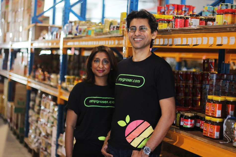 Stephen Francis and Michele Mahendra , founder and co-founder of MyGroser