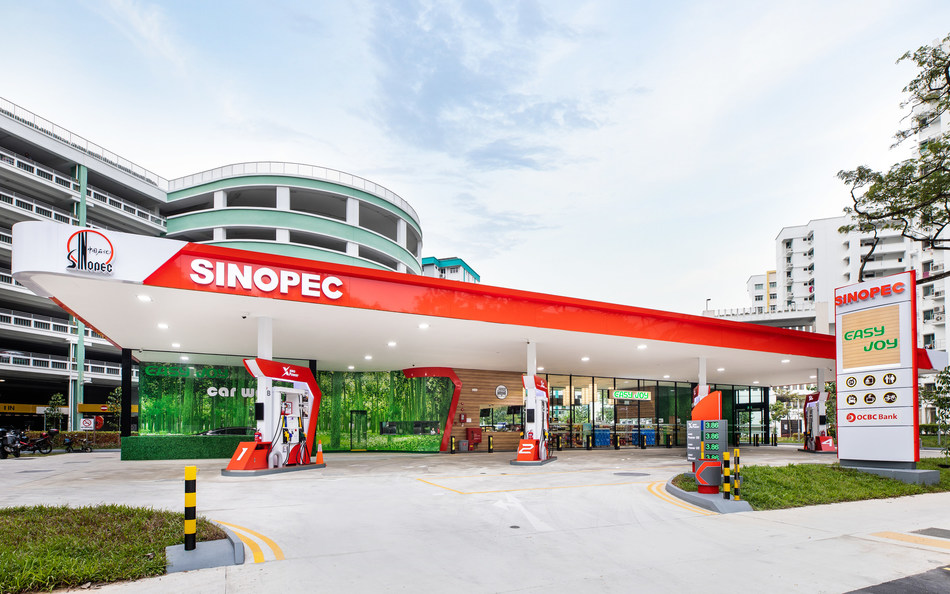 Sinopec Gas Station in Singapore.