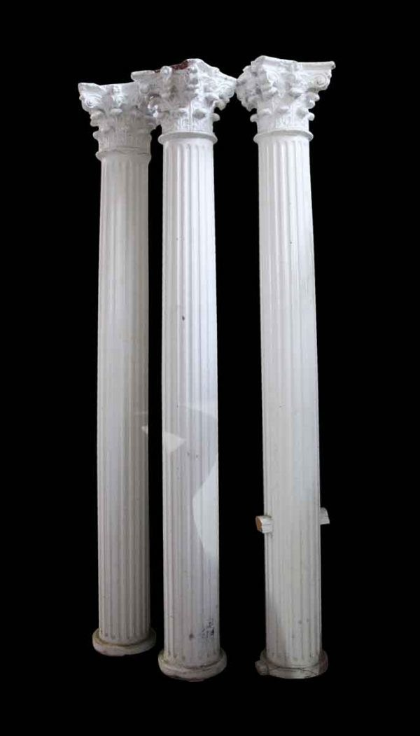 These tall white wooden Corinthian columns would look great anywhere.