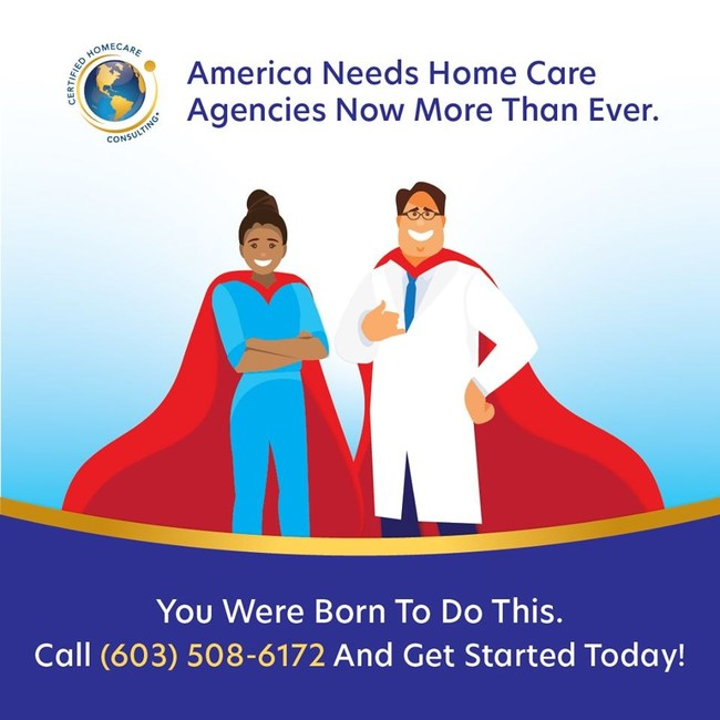 America needs home care agencies now more than ever. You were born to do this. Call today for more information.